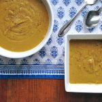 This homemade split pea soup can be made with green or yellow split peas.