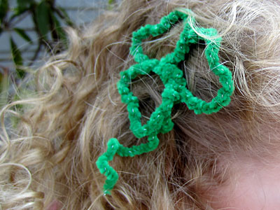 Shamrock Barrette Tutorial