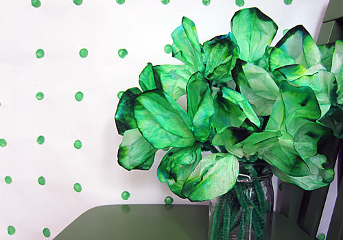 Coffee Filter Shamrock Kids Craft: Easy St Patrick's Day Craft