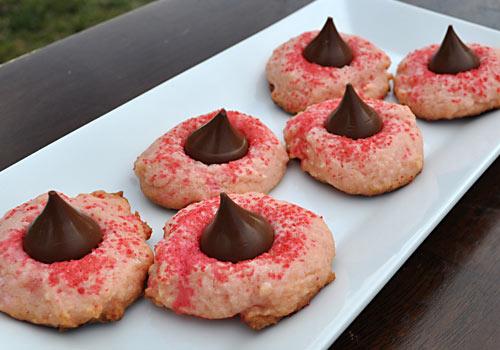 Pink Sugar Cookie Kisses
