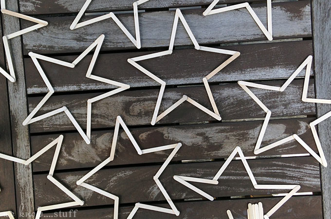 Our Patriotic popsicle stick stars are an affordable way to decorate your home for the 4th of July. We love finding new things to make with popsicle sticks for kids!