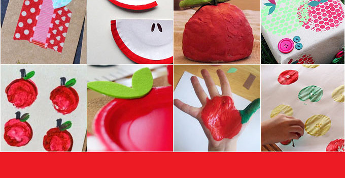 12 Apple Crafts For Kids