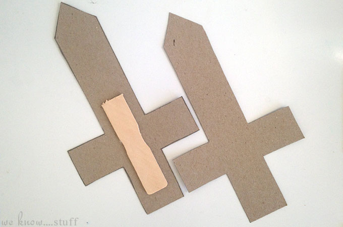how to make a play sword out of cardboard