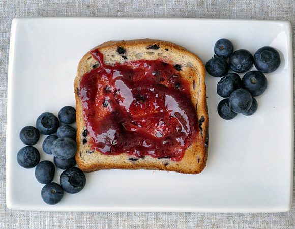 Boo Berry Jam (Blueberry Freezer Jam)