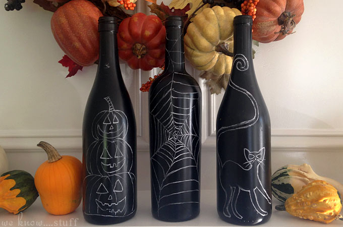 Halloween Bottle Decorations Amazing A Spooky Kind Of Fun Recycled Halloween Wine Bottle Craft Design Ideas