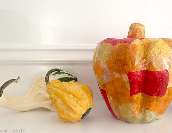 Tissue Paper Patchwork Pumpkin Craft