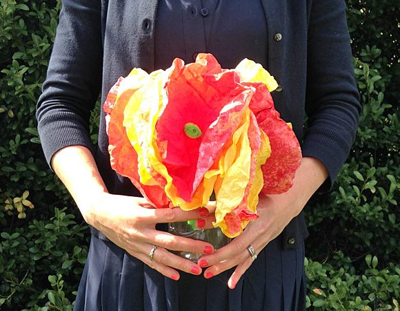 Painted Coffee Filter Flowers Craft