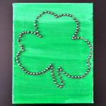 Kids Craft Shamrock Canvas Art