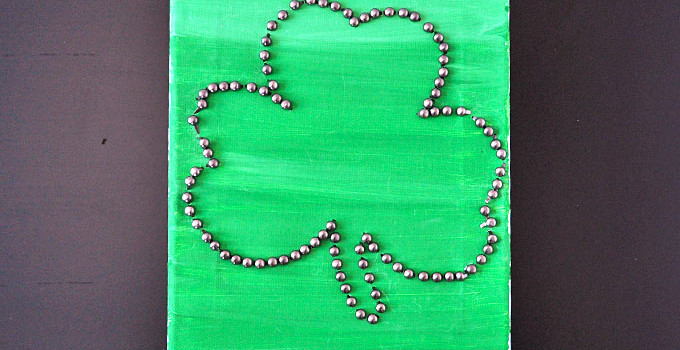 Kids Craft: Easy Shamrock Canvas Art