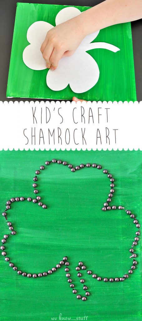 We're always on the lookout for fun Irish Crafts For Kids. This Shamrock Craft is suitable for older kids and is a festive way to decorate your home for Saint Patrick's Day.