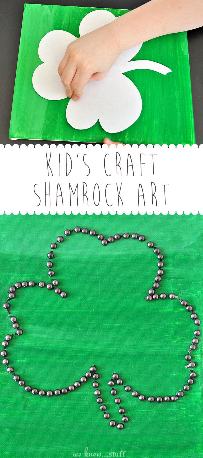 irish crafts for kids shamrock canvas art we know stuff