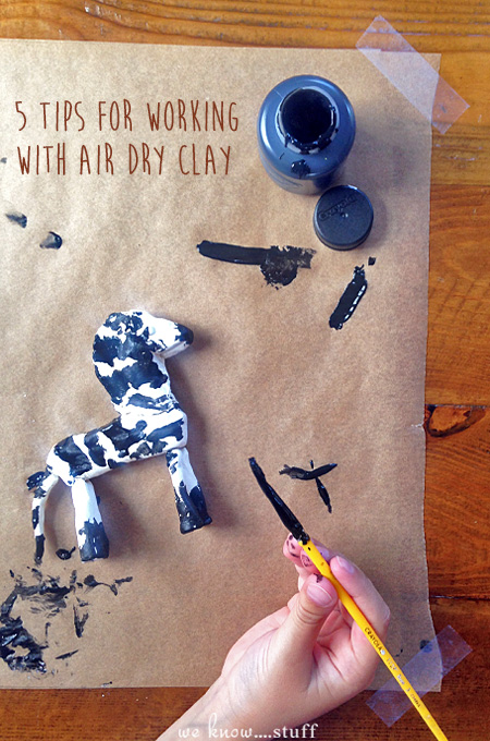 Our kids love using air dry clay for crafts. Here are 5 tips for working with air dry clay to help you before you start your next project.