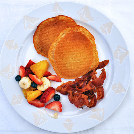 When your kitchen is being remodeled, don't stress out about what you'll eat. Our Grilled Pancakes & Bacon will keep your whole family happy and well fed!