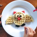 This adorable waffle Owl is the perfect way to make breakfast special for your kids. This easy fun with food tutorial just takes a few minutes to create.