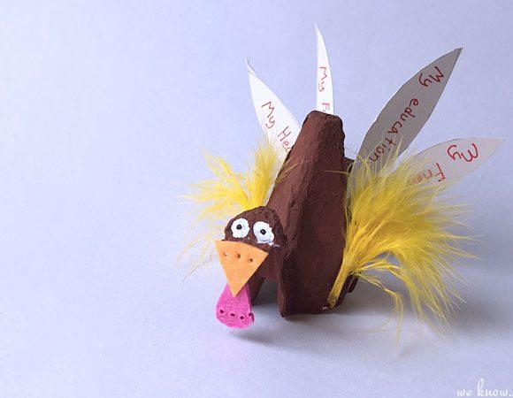 DIY Turkey Craft from Egg Cartons