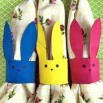 This Easter Bunny Napkin Holder craft is a fun way to recycle! You can use toilet paper rolls to create these easy napkin rings for your Easter table.