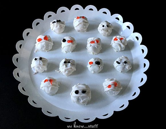 Spooky Mummy Truffles: Bite Sized Halloween Treats