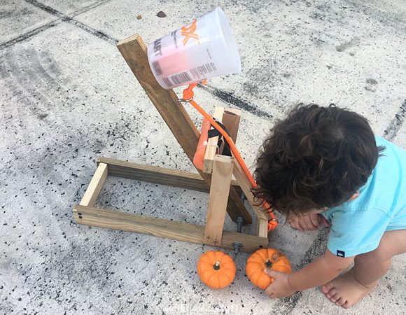 STEM Learning: Pumpkin Catapult for Kids