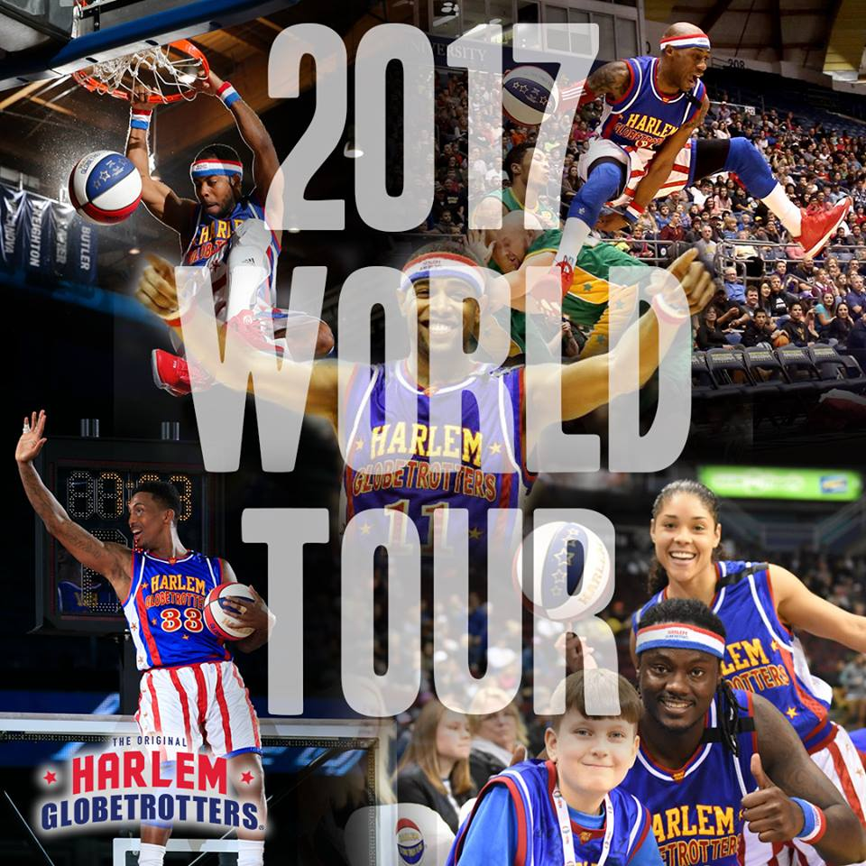 Harlem Globetrotters Tour Dates. USA 2017 World Tour. Don't miss them when they come to your town! SAVE 25% on ALL Harlem Globetrotters Tickets!