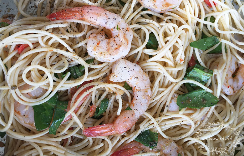 If you're like me, you're always looking for easy-to-make weeknight dinners. That's why I love this super easy, chilled pesto pasta shrimp recipe.