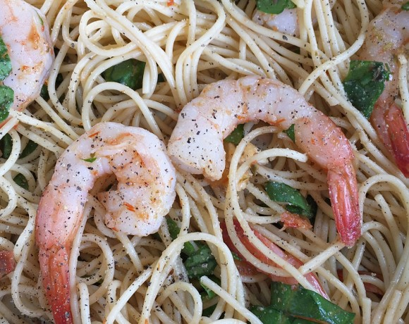 Chilled Pesto Pasta Shrimp Recipe