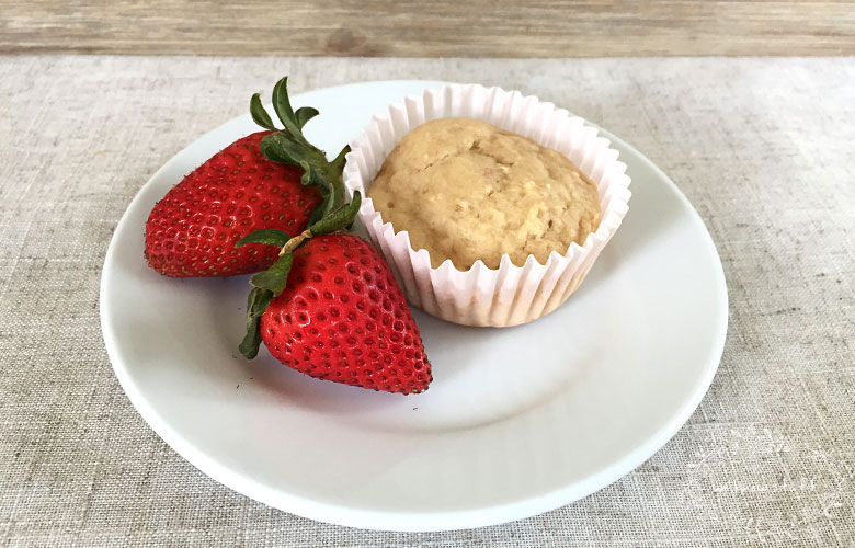 These are easy banana muffins kids will love, especially if you have picky eaters. Add in their favorite fruit and yogurt flavors for an easy lunchbox idea.