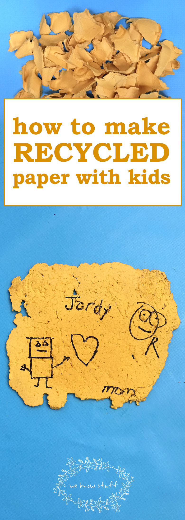 How To Make Recycled Paper With Kids. This simple Earth Day Activity will have a lasting impact on how your kids understand recycling!
