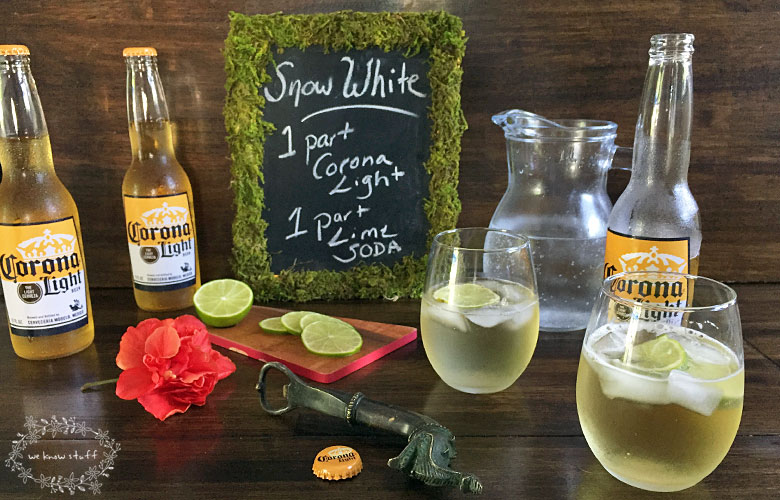 Have you ever tried a Beer Based Cocktail Recipe? No? Neither did we until we decided to make The Snow White and it was surprisingly delicious!
