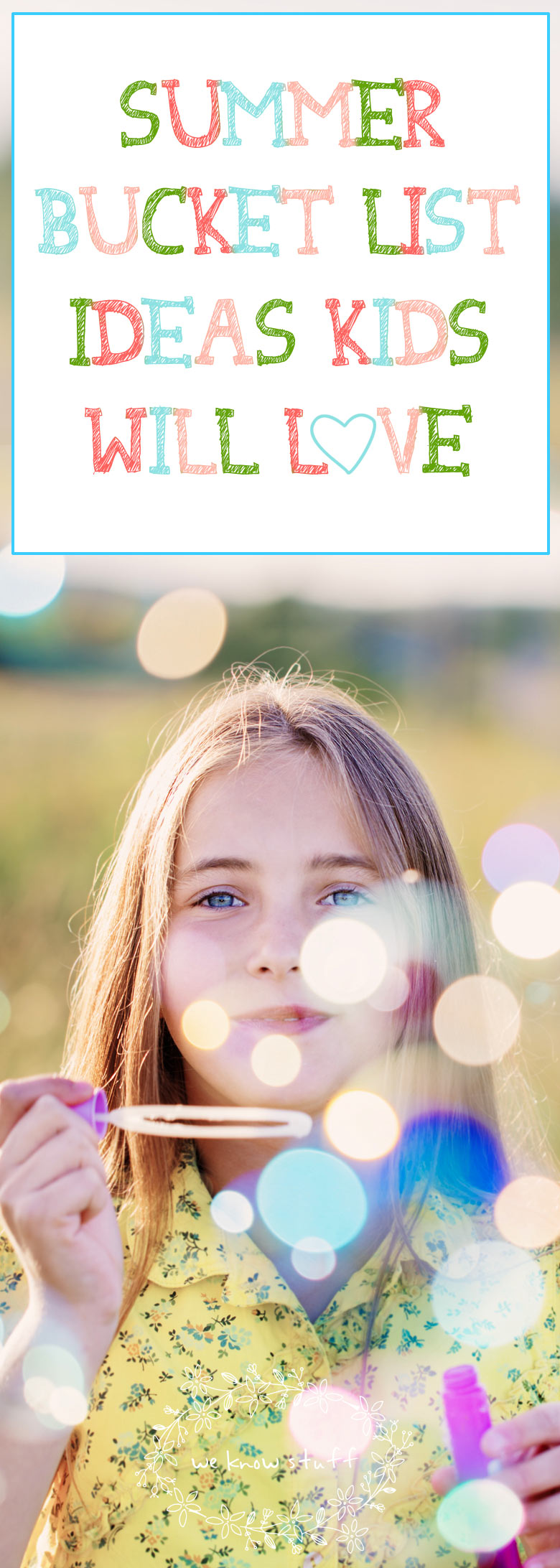 Our Summer Bucket List Ideas Kids Will Love has 50 ways to have fun and take it easy over summer break. Boredom is a gift and we want our kids to enjoy it! Download our printable to share with your kids.