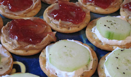 Tea Party Cracker Sandwiches