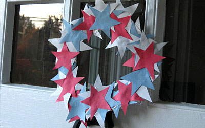 Kids craft a patriotic wreath we know stuff for Craft party long island