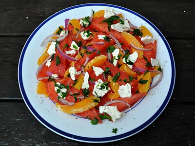 Watermelon, Orange and Feta Salad, http://www.weknowstuff.us.com/