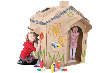 http://www.weknowstuff.us.com Cascades Cardboard Playhouse
