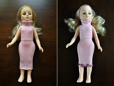 Kids Craft - Use Old Baby Socks To Make Doll Dresses, http://www.weknowstuff.us.com/