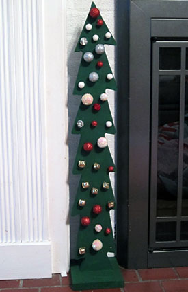 This Christmas Tree Craft For Kids Uses Wood Trees With Pre Drilled Holes From Michaels