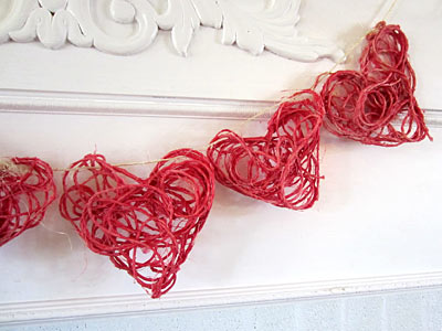 http://www.weknowstuff.us.com Kid's Valentine Craft Twine Hearts