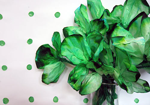 Are you a fan of homemade holiday decorations? If so, this Coffee Filter Shamrock is right up your alley and uses stuff in you already have in your home.