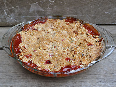 Apple pear cranberry crisp, www.weknowstuff.us.com