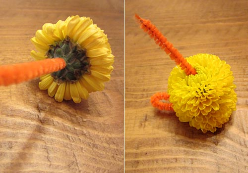 Easter Craft Miniature Mum Chicks http://www.weknowstuff.us.com