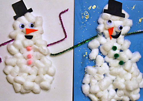 Snowman project ideas we know stuff - Cotton ballspractical ideas ...