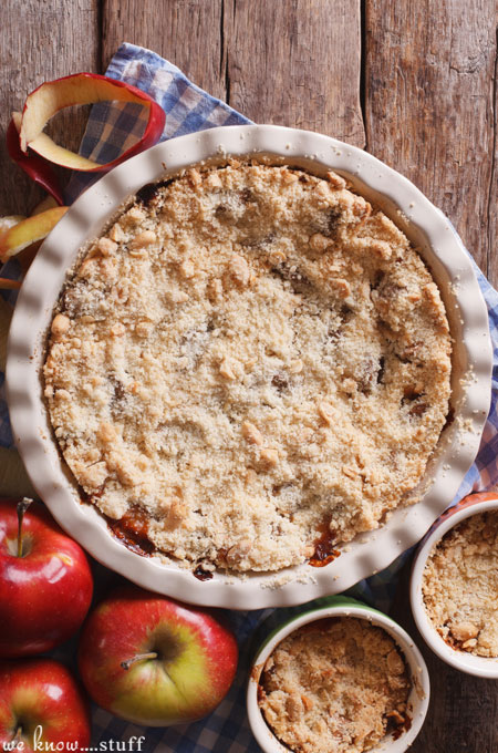 "This Apple Pear Cranberry Crisp recipe is one of my ""Go To"" desserts. I love that you can toss anything into the fruit mixture and it turns out amazing!"