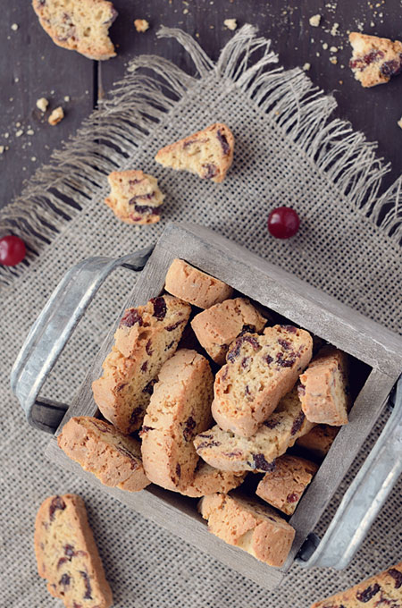 This Thanksgiving biscotti will become your favorite holiday cookie. This chocolate, almond and cranberry biscotti has something for all of your guests.