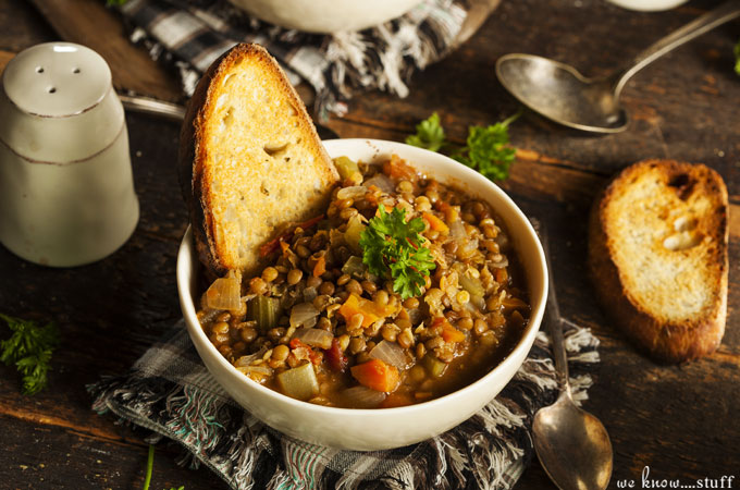 When the weather turns cold, I reach for my crockpot and cook up some hot soup. This Traditional Greek Lentil Soup is one recipe that everyone agrees on.