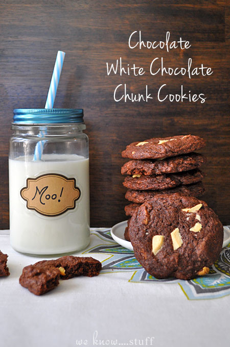 These Chocolate White Chocolate Chunk Cookies are my husband's favorite cookies. Whenever he gets a hankering for chocolate, these are my go-to cookie!