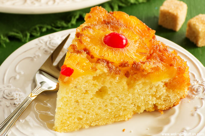 This pineapple upside down cake recipe from scratch uses fresh pineapple and is so easy to make. Everyone loved it; now it's a family favorite recipe!