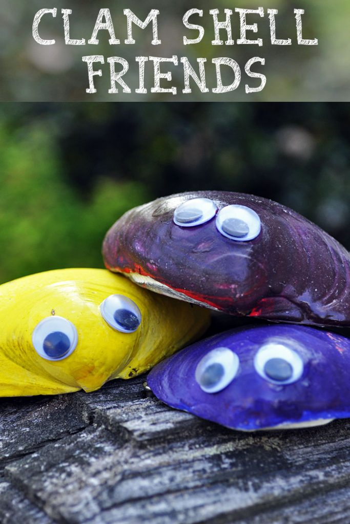 These adorable Clam Shell Friends are one of our favorite summertime crafts. We live by the ocean, so we're always looking for more shell crafts for kids!