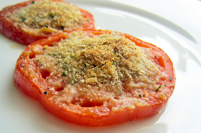 These baked tomatoes are the perfect summer side dish!