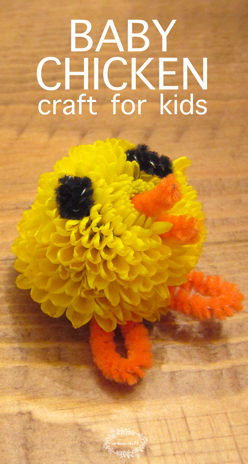 This easy easter craft shows you how to make the cutest baby chicken craft for kids. This is a fun craft for any kids that loves baby chicks! #eastercraft #chickencraft #easyeastercraft #chickcraft #preschoolcraft #pipecleanercraft