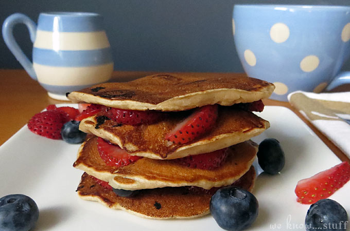 This Very Berry Simple Pancake Recipe For Kids puts boxed pancake mix to shame. These are the best homemade pancakes I have ever eaten!