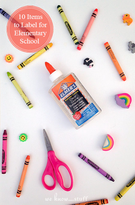 "If you've ever had to ask your young, school-aged child, ""Whose coat is this?"" - read our post to find out which Back To School Items you should label each year and why you should pick up some labels for kids school supplies."